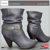 FULL PERMISSIONS Western-inspired boots - Silver Purple Texture Pack made by RedPoly