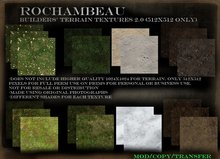 Rochambeau Builders' Terrain Textures 2.0 for Prims (512 ONLY)