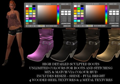 Promo New Lower Price [AL] Cowgirl Boots Unlimited Colors! Boot & Stitching Any Color - Heel - Metal - Texture Change