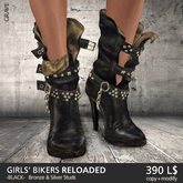 [*RG*] Girls' Bikers RELOADED -Black- *REDGRAVE*