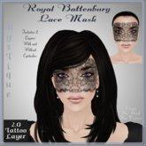 Royal Battenburg Lace Mask - Tattoo Layer