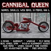 """Demon Chopper """"CENSORED Queen"""" (Halloween Bones Bike, Skeleton, Motorcyle, Skull)"""