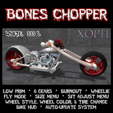 Bones Chopper - White - (demon motorcycle, skeleton bike)