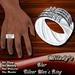 *Milady's* -Blur- Men's Silver Ring