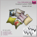Full Perm Sculpted Cushion-Textured Cushions 6 pcs - Builder's Kit Set Full Perm - Cushion - Pillows