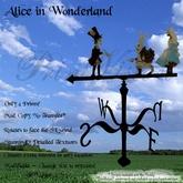 *PV* Alice in Wonderland Weather Vane