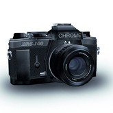 Classic Vintage Analogue 35mm Single Lens Reflex Camera SLR with HUD Viewer and Mouselook Animation