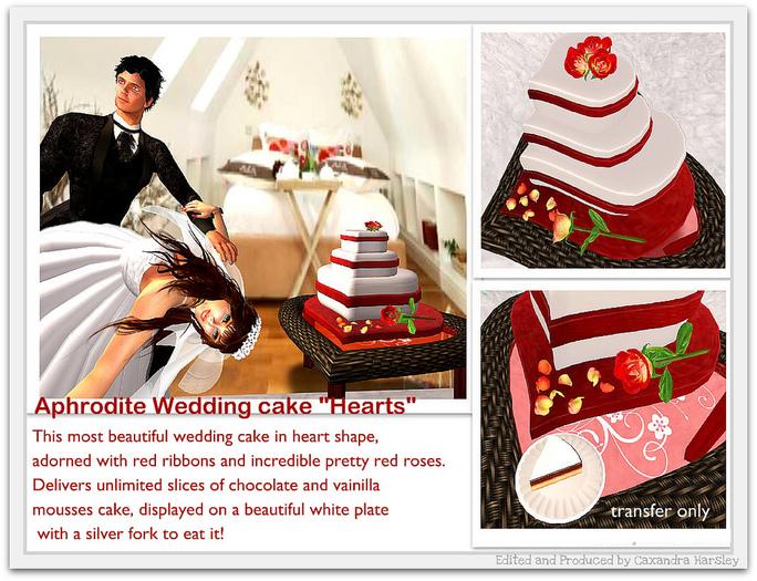 "Aphrodite Wedding cake ""Hearts"""