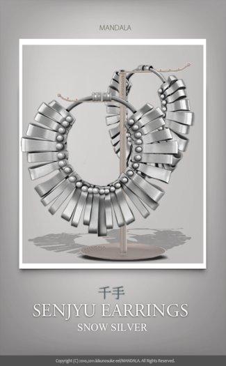 (70%OFF SALE)[MANDALA]:SENJYU Earrings/SNOW SILVER