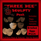 """Three Dee "" Cracked Egg Shells Sculpty Pack"