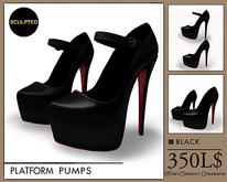 J's Platform Pumps (Black)