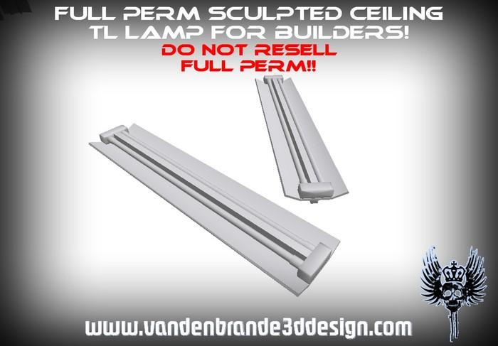 ~Full perm sculpted Ceiling TL lamp + Map!