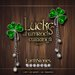 EarthStones Lucky Shamrock Earrings - Silver (Box)