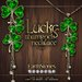 EarthStones Lucky Shamrock Necklace - Gold (Box)