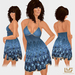 "*VEXTRA FASHION* ""Flirtini"" Halter Dress - Blue"