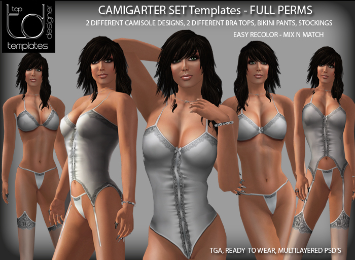 TD TEMPLATES Camigarter Set Templates TGA & PSD - FULL PERMSISSIONS