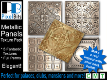 Elegant Metal Panel Textures Pack - Full Perm!