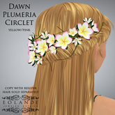 "Eolande's Plumeria Hair Circlet for ""Dawn"" - yellow/pink (boxed"