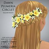 """Eolande's Plumeria Hair Circlet for """"Dawn"""" - yellow/white boxed"""