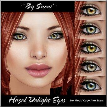 ~*By Snow*~ Hazel Delight Eyes (5 pack)
