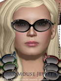 Dark Mouse Roundeye Glasses - Twiggy