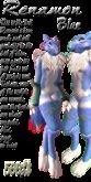 -=[Wulf]=- Renamon 3 [Blue] (Box)