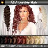 A&A Loreley Hair 11 Colors Variety Pack. Very long curly flexi hair