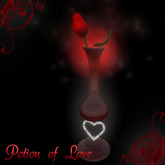 ** Love Potion** Valentine's Special  Beautiful Red Rose in a Vase with Romantic I love you Card!