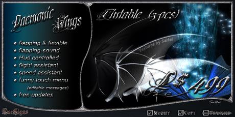 *DS* Daemonic Wings Gem Tintable (box)