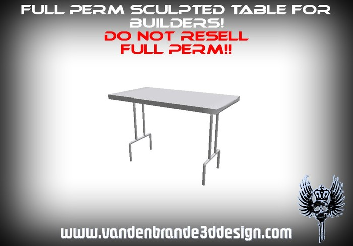 ~Full perm 1 prim table + Map! for builders