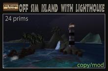 PROMO 75% OFF !!  Off sim island with lighthouse - outside sim island-tropical island
