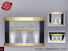 Modern Waterfall Display Stand - Gold FULL PERM