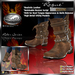"""PROMO ~ New Release SALE ~ !Drakke! """"Rogue"""" Boots (Brown) with Unsheathed Knife Appearance Option ~ SL Viewer 2 Ready"""