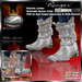 """PROMO ~ New Release SALE ~ !Drakke! """"Ranger"""" Boots (White) with Unsheathed Knife Appearance Option ~ SL Viewer 2 Ready"""