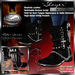 """PROMO OFFER ~ SALE ~ !Drakke! """"Slayer"""" Boots (Black) with Vampire Spike Weapons Sheathed/Unsheathed Appearance Option"""