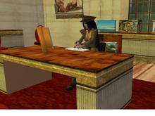 Desk, animated