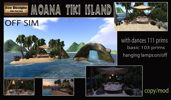 PROMO  420 OFF !Moana Tiki island-off sim -box