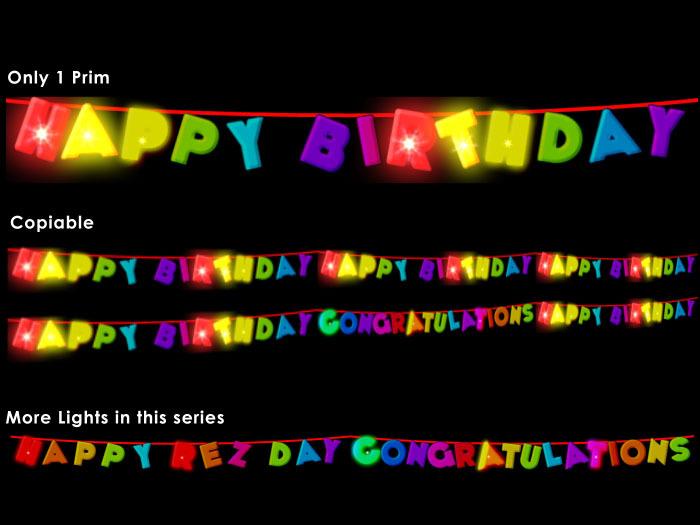 Flashing Happy Birthday Lights