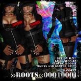 >>ROOTS<<00O10001 (Hoodie Mini Sexy Dress)