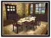Dinner Party Dining Set for 6: Walnut Turned Leg MARKETPLACE SPECIAL!