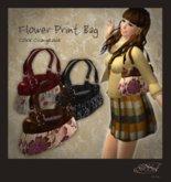 S@BBiA::Flower Print Bag