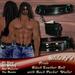 *Milady's* -Pride- Black Leather Belt for Men with backpocket Wallet