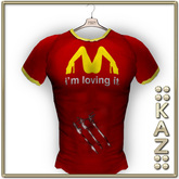 ::KAZ:: tshirt red im lovin it