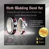 *Nala's* Goth Wedding Band Set