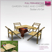 Full Perm Sculpted Garden Table and Chairs Set + FREE Hotdog-Patio/Picnic Furniture Set-Builder's Kit