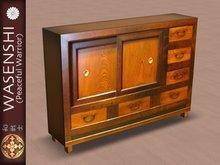 Japanese Antique Tansu storage cabinet. # 4