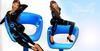 Futuristic blue logo