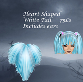 Heart Shaped Blue White Tail and ear set