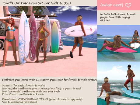 *{what next}'Surf's Up' Pose Set For Boys & Girls - Discounted!