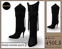 J's Fringe Cowgirl Boots2 (Black)